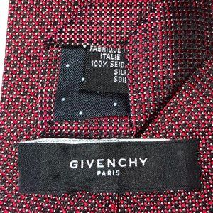 Givenchy dots red black 100% silk